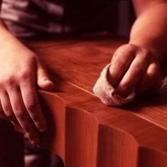 restauro mobili antichi, Lucidatura a stoppino, restauro pendolo