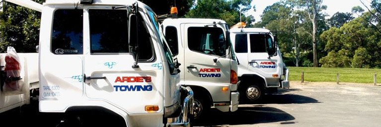 ardies towing tow truck line up