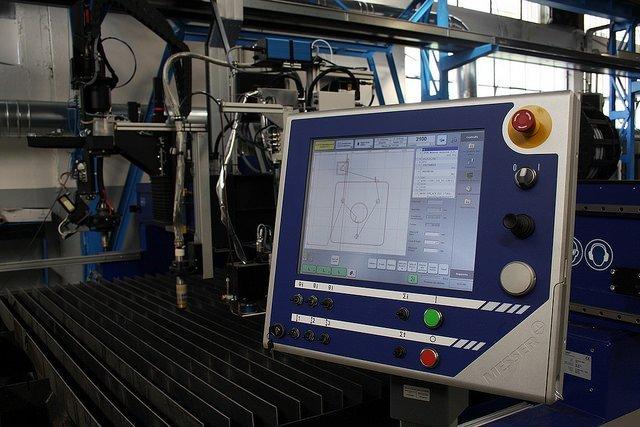Monitor Controllo Macchina Taglio Plasma MESSER
