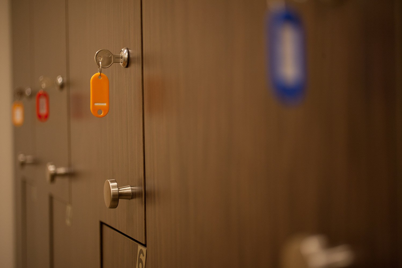 Amenities at Pilates Denver include a locker room