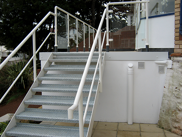 Front view of a staircase