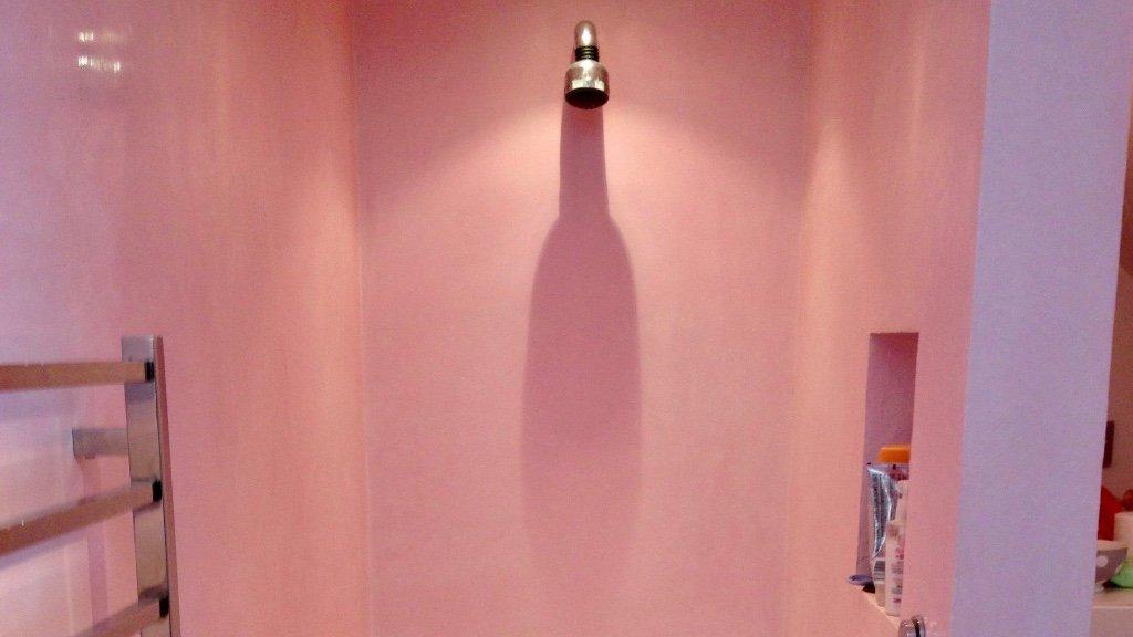 Pink Tadelakt Shower Colchester
