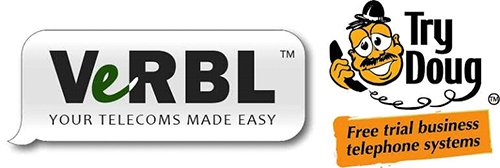 Verbl logo and try doug logo