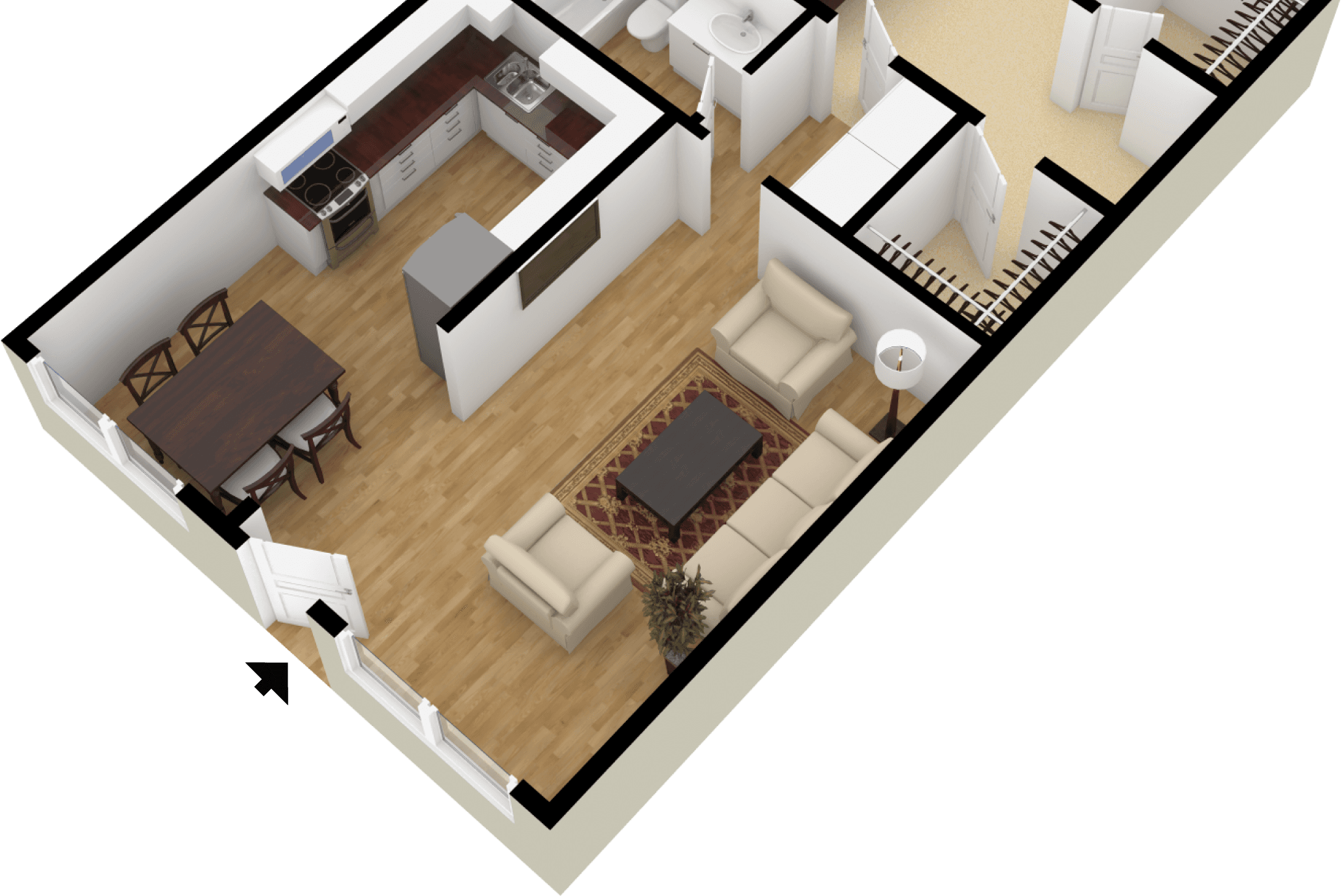 Doll House View of Floor Plan
