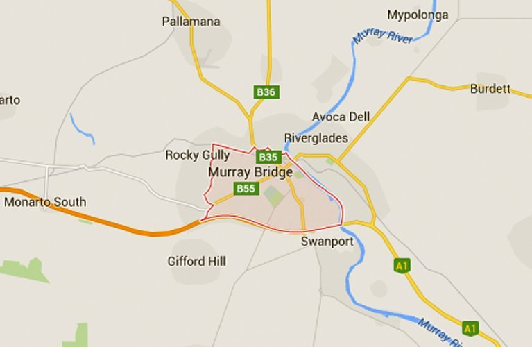 map of murray bridge area