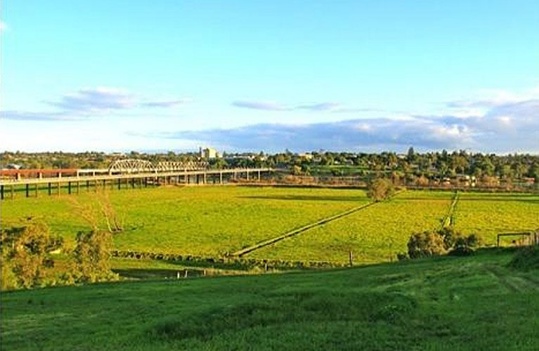 murray bridge region view from a hill