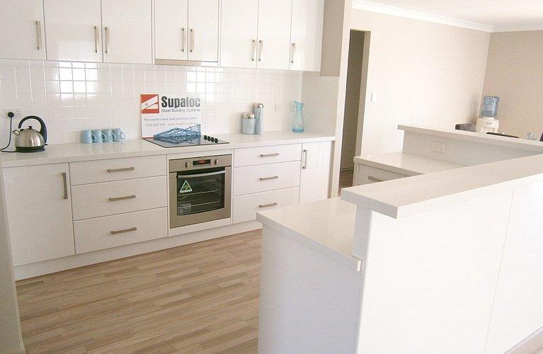 modern kitchen with raised bench