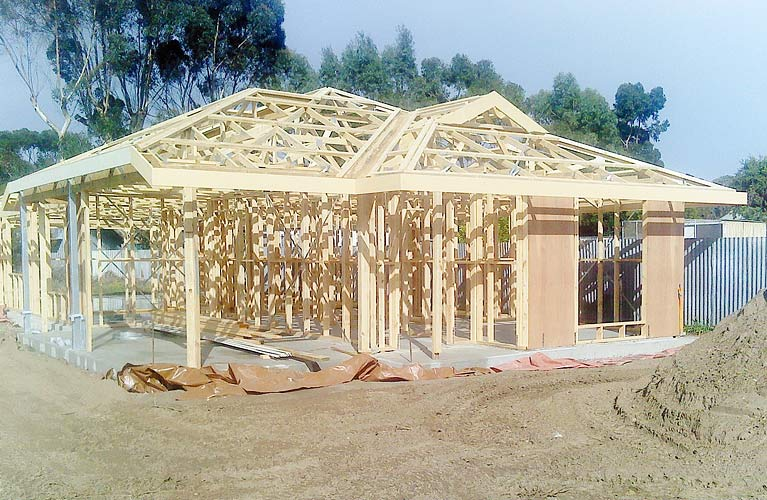 timber house frame