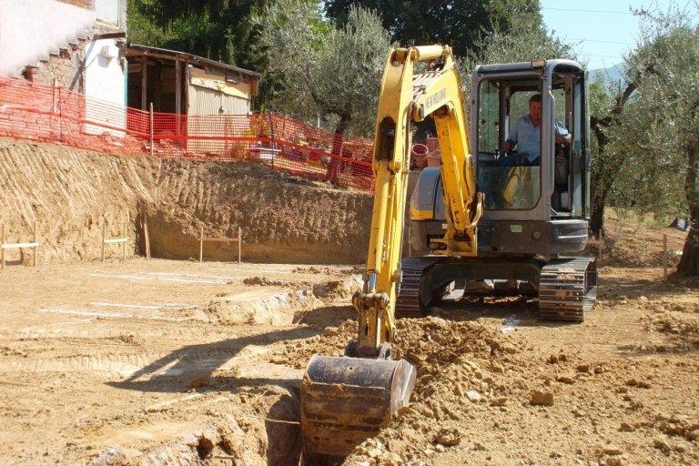 Scavo fondazione di nuova costruzione