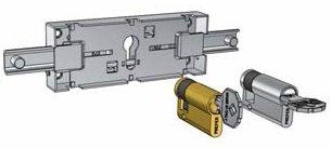 Schema del funzionamento della serratura per garage