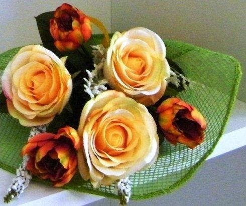 bouquet di fiori arancio