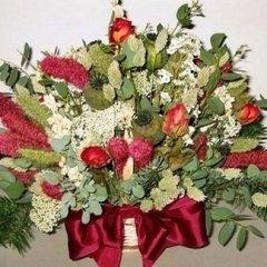 composizione di fiori secchi