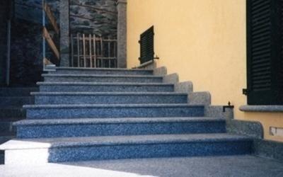 Scale in granito grigio val masino sondrio rossi albino graniti - Scale in granito per interni ...