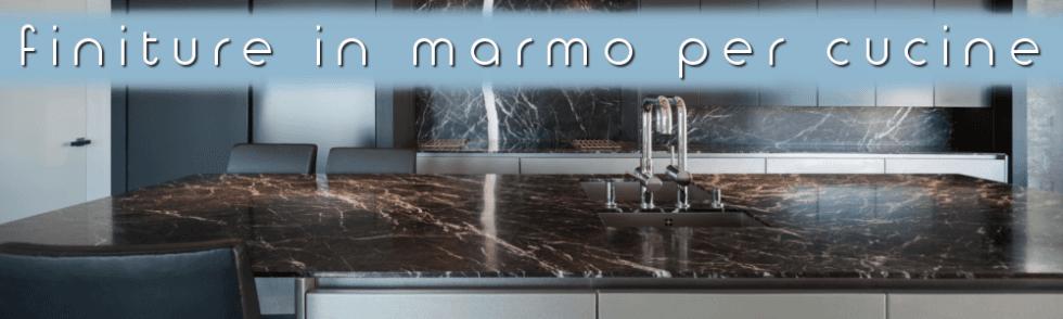 Finiture in marmo cucina.