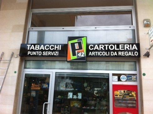 cartello Tabacchi Cartoleria