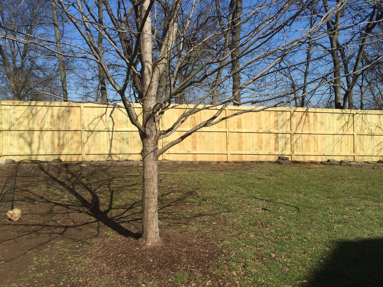 Cap Top Wooden Privacy Fence