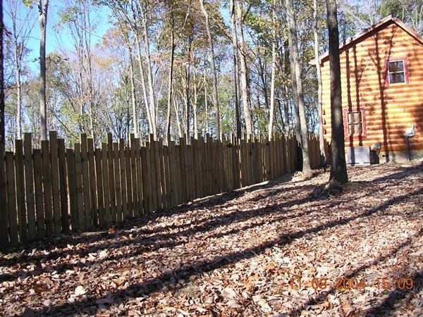Custom Rustic Fort Semi Privacy Fence