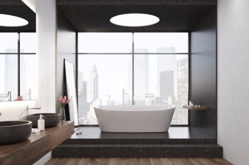 Vista del bagno e la vista da la vasca