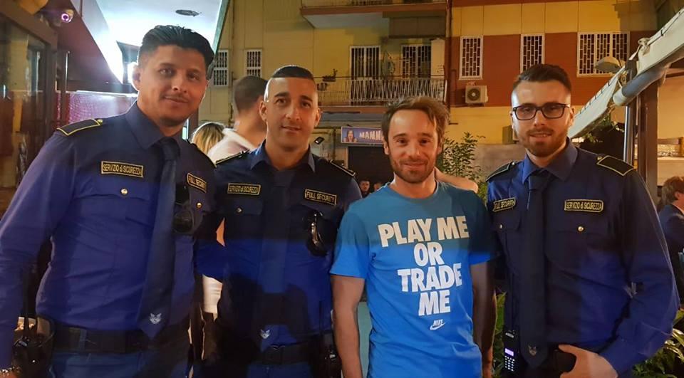 bodyguard con noto attore italiano