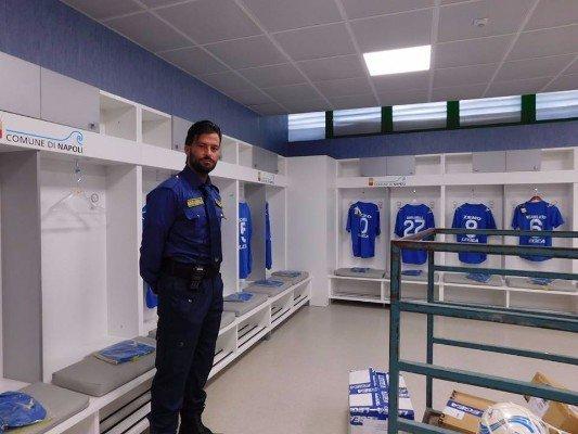 All'interno dell'abbigliamento del team di calcio
