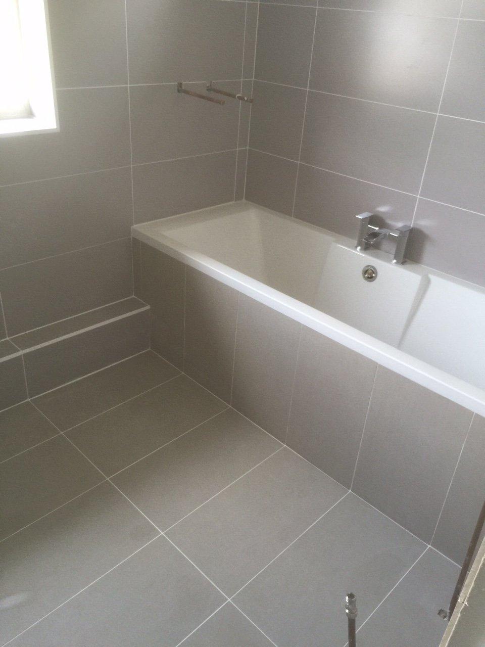 modern bathroom tiling