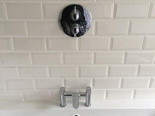 tilled bathroom