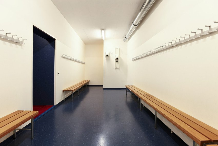 sports dressing room