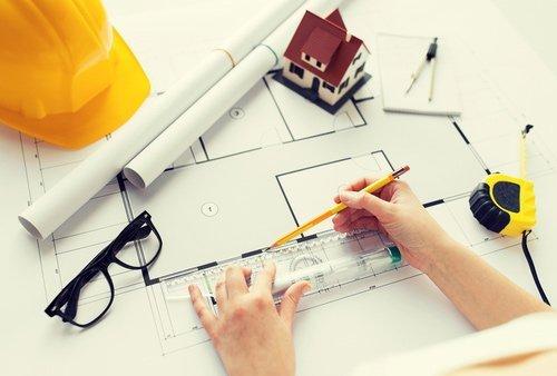 Disegno di un progetto edile