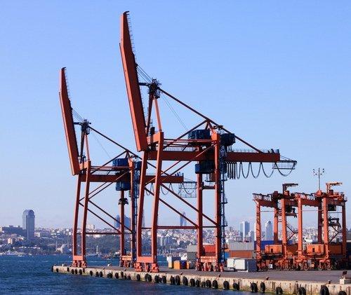 Cantiere edile in un porto