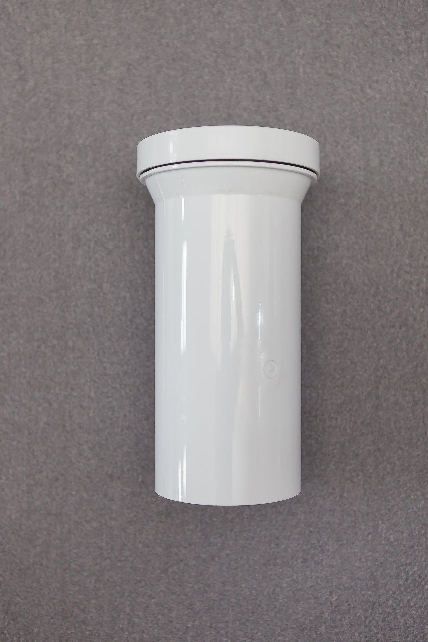 componente in plastica di tubazione di scarico