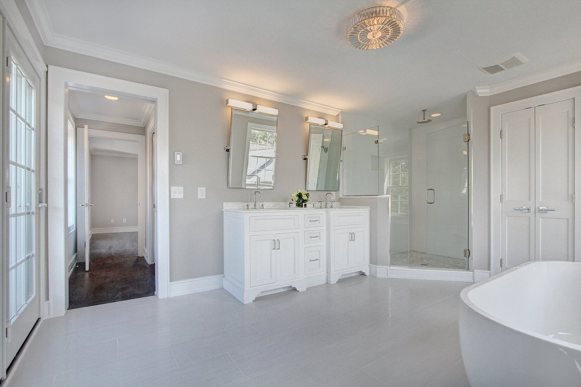 Large Bathroom in Green Home, Stamford CT