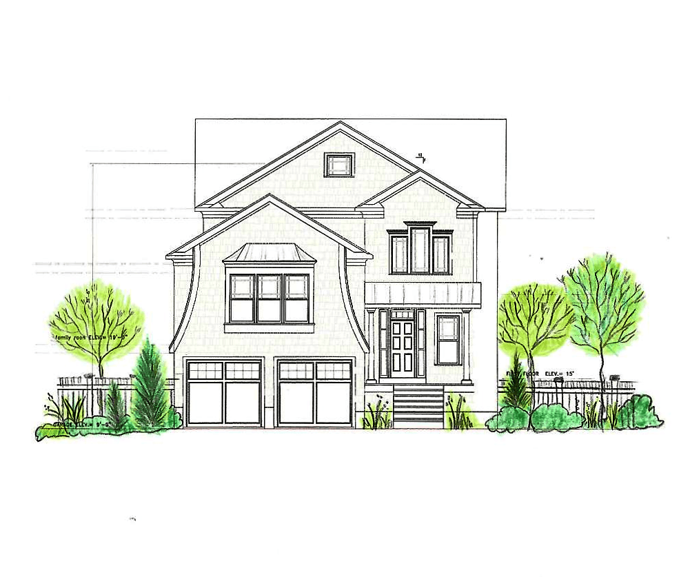 Drawn Design for New Home Construction, Stamford CT