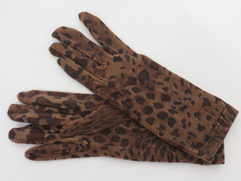 Guanti da donna leopardati