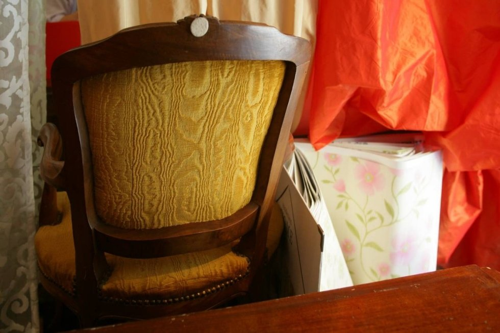 poltrona e sedie imbottite