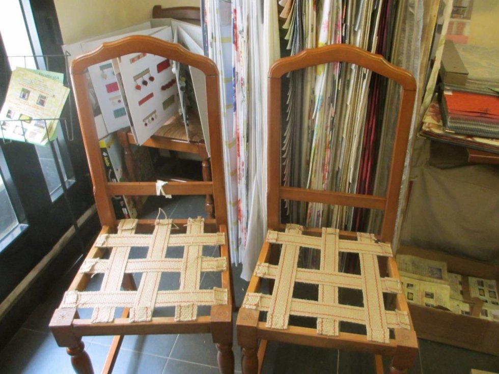 sedie imbottite e rilegate