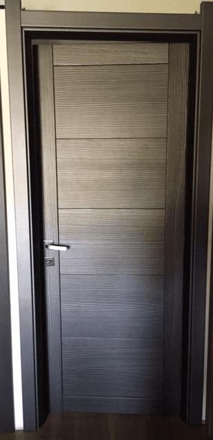 porta spazzolata color titanio 80 x 210 € 200