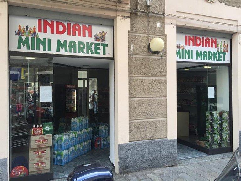 Insegna per negozio alimentare indiano