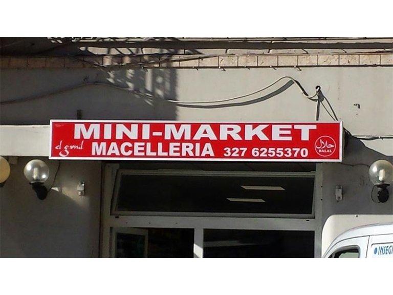 Insegna per mini market