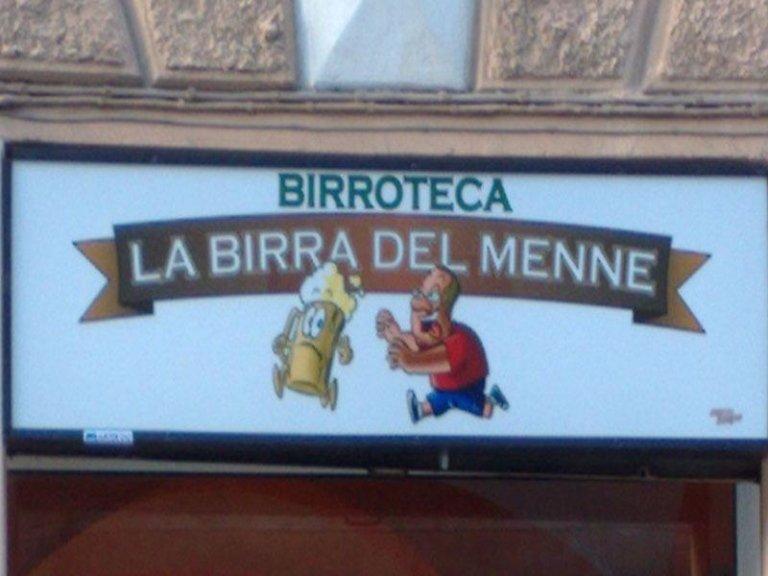 Insegne per Pub - La birra del Menne