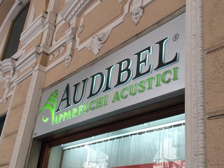 Insegna Negozio apparecchi acustici