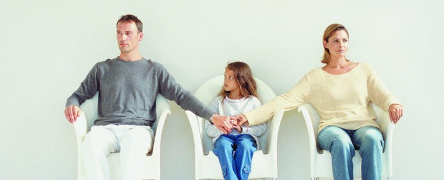 A child between feuding parents