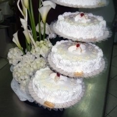 a composition of cakes