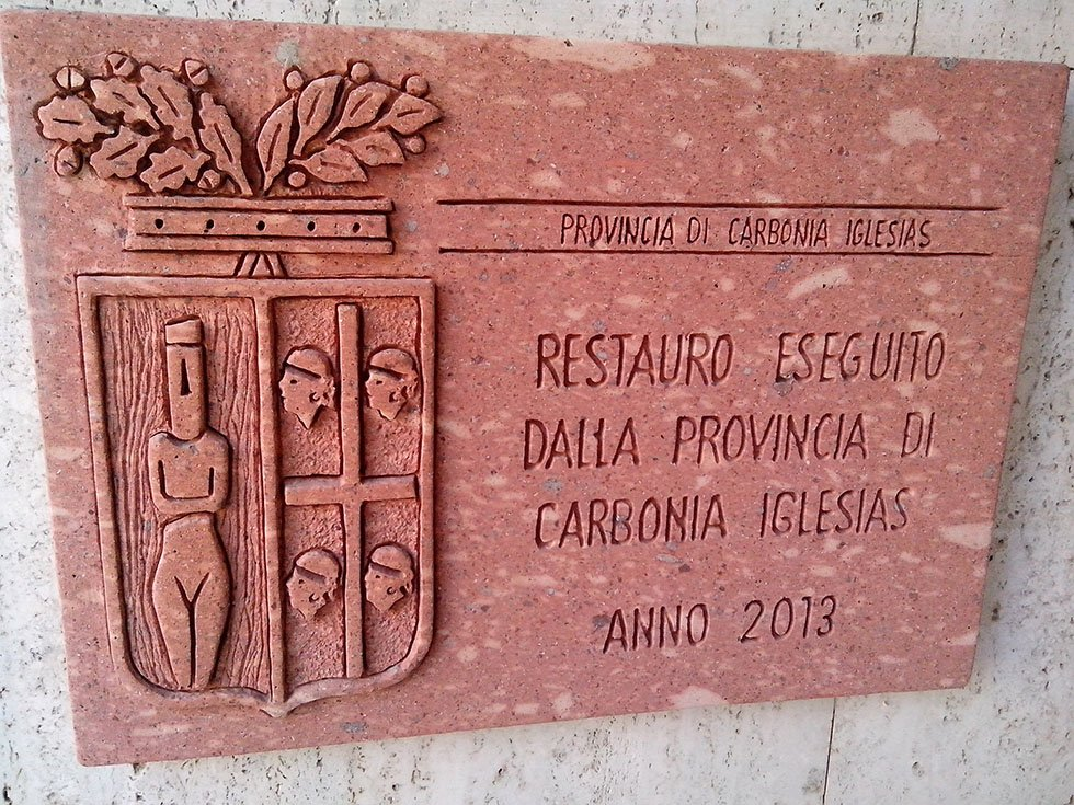 Targa commemorativa in granito