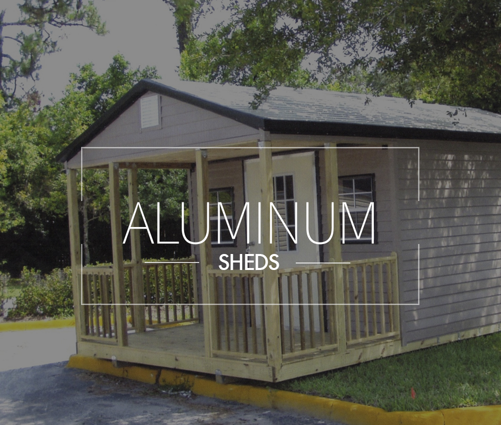Storage sheds gainesville fl steel buildings aluminum for Portable wooden house