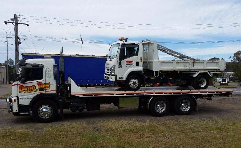 dyno tow truck towing volvo two