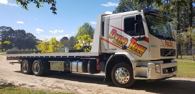 dyno tow truck towing