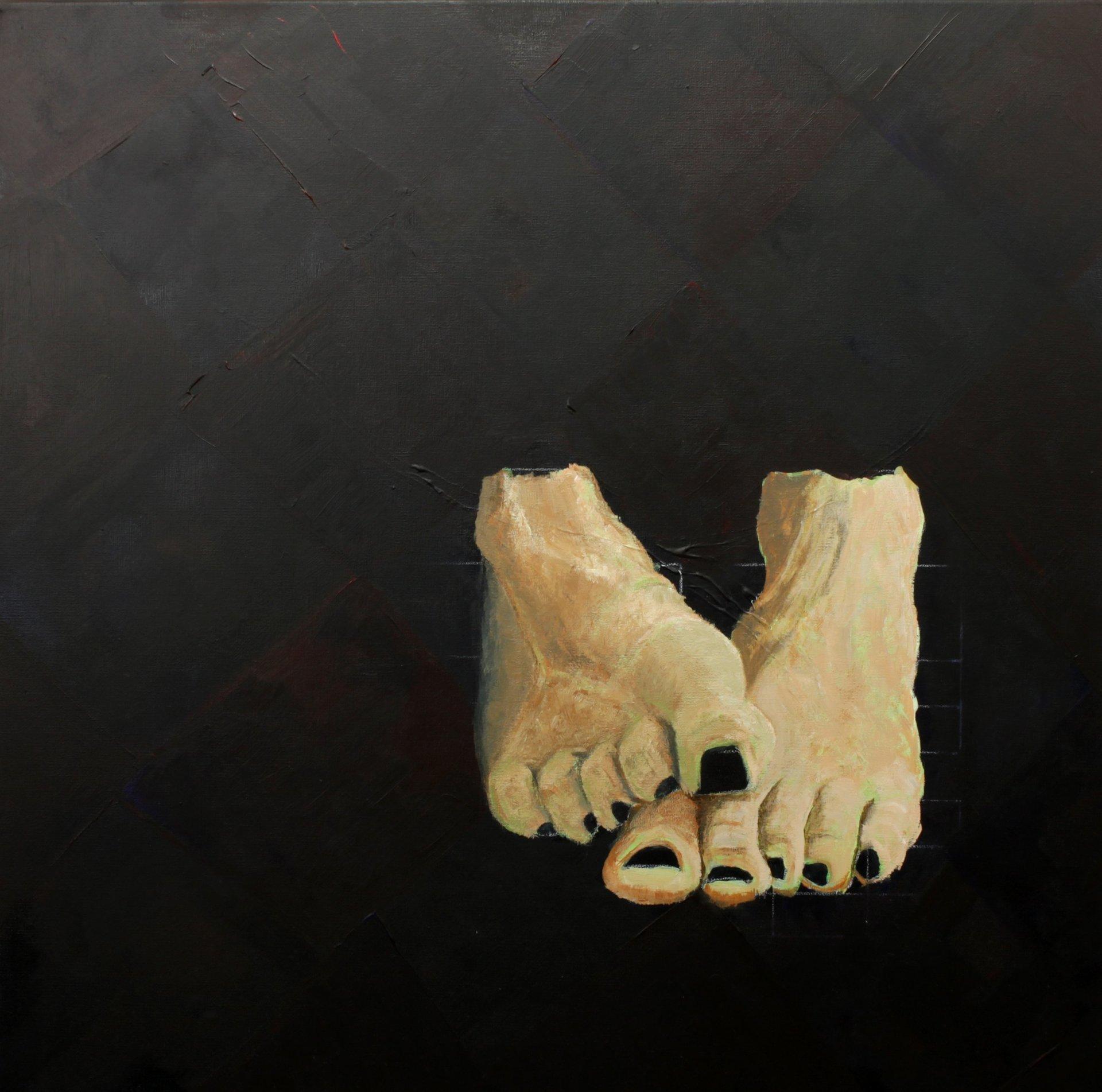 Life painting, feet