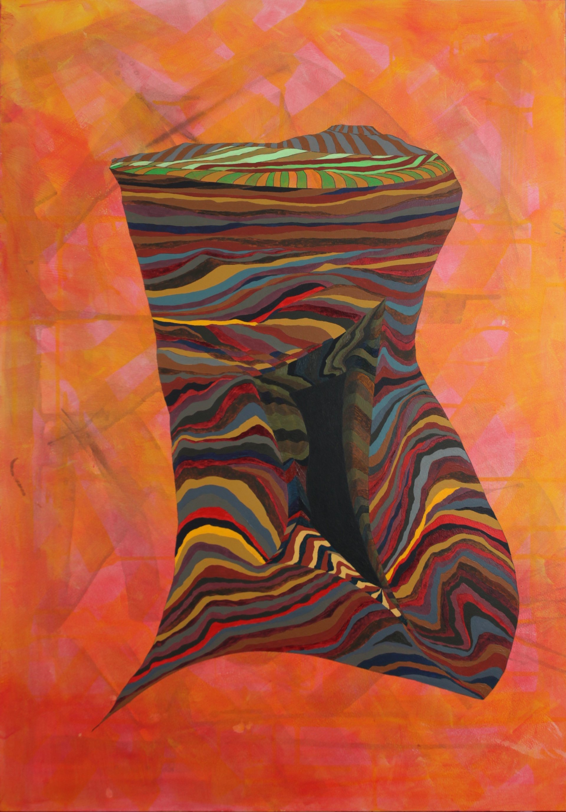 landscape painting, abstract, symbolic