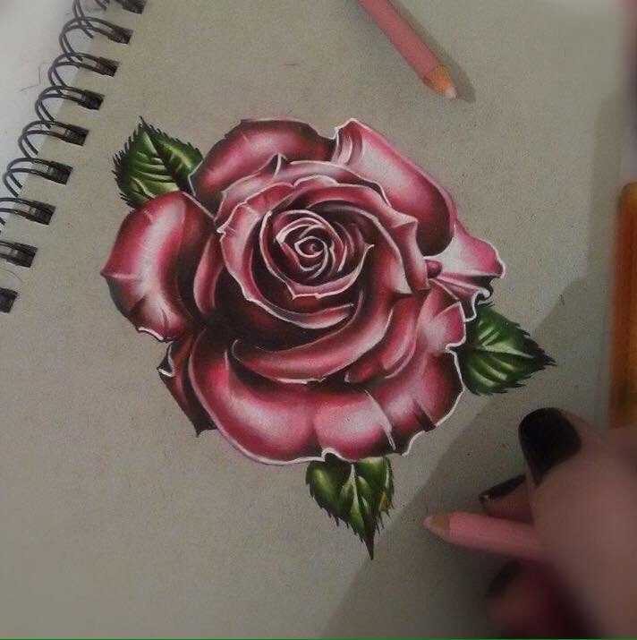 Tattoo design of a rose