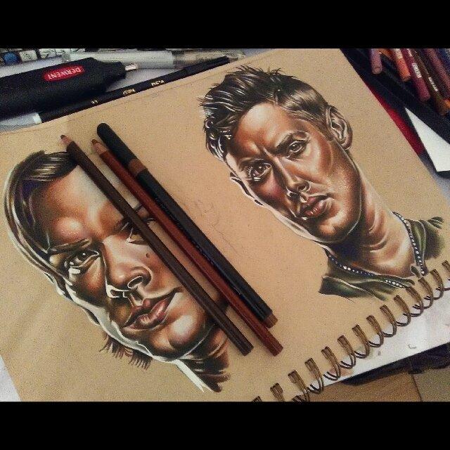tattoo design of a men face